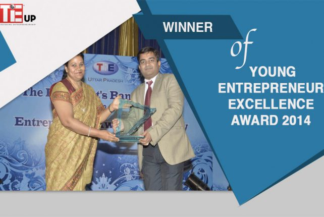 Winner of Young Entrepreneur Excellence Award 2014